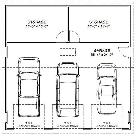 Size Of A 3 Car Garage | garage dimensions google search andrew garage