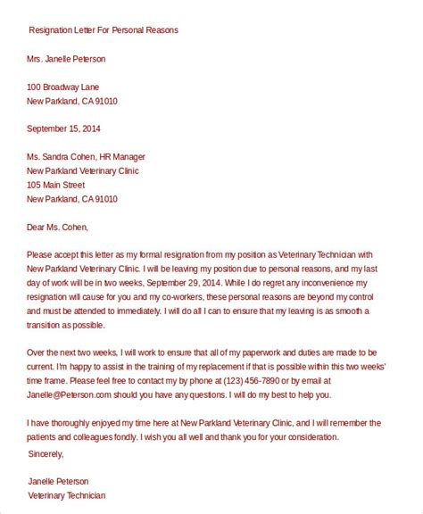 Formal Resignation Letter Template Word Doc Formal Resignation Letter 11 Free Word Pdf Documents Free Premium Templates