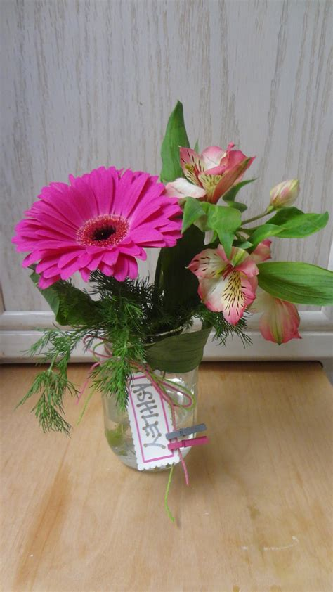 diy mason jar flower arrangement