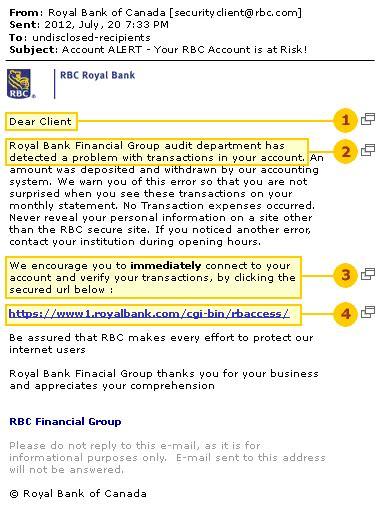 royal bank financial email website fraud rbc