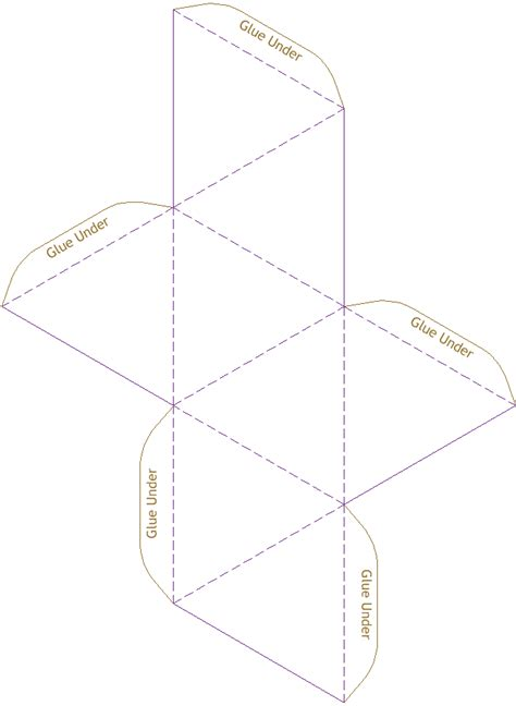 geometry net templates octahedron model template