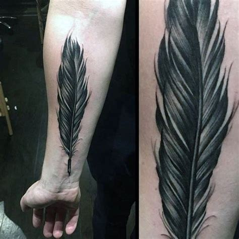 feather tattoos for men 125 stunning feather tattoos to choose from