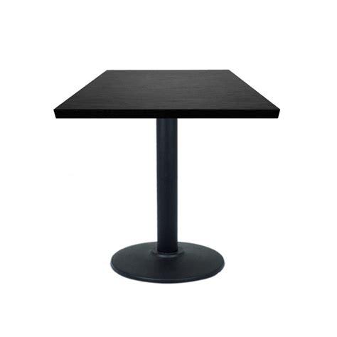 table 60x60 cuisine table restaurant 60x60 cm plateau bois et pied m 233 tal noir