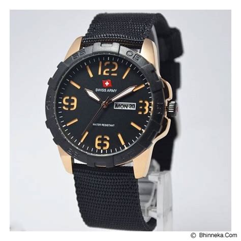 Jam Tangan Swiss Army Day Date Active Canvas Box 4 jual swiss army sa1179 black gold murah