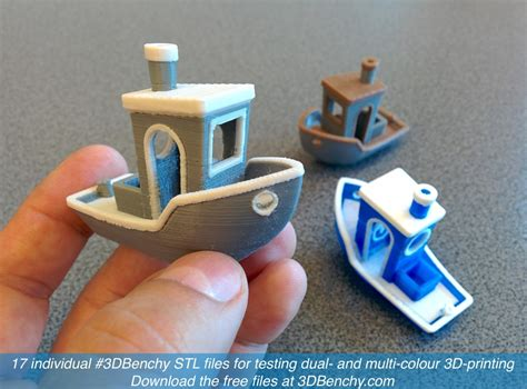 3d color printer 3dbenchy for dual and multi part color 3d printing