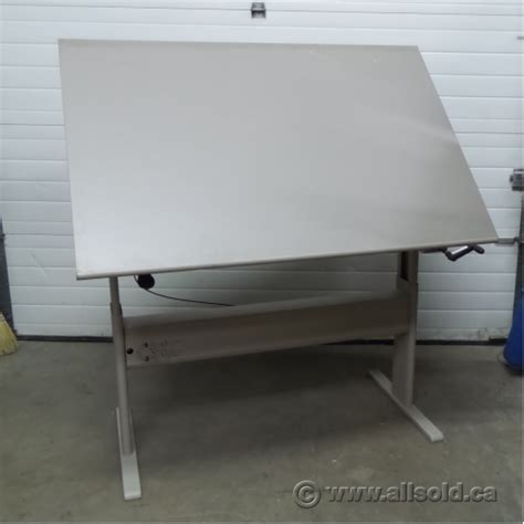 Drafting Table Surface Teknion Sit Stand Tilt Surface Drafting Table Work Bench Allsold Ca Buy Sell Used Office