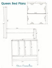 the building ofbed bed frame plans and headboard