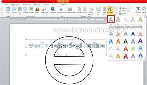 membuat logo di word cara membuat logo desain stempel di ms word kusnendar