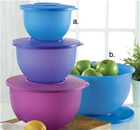 Tupperware Clip On Bowl tupperware three pc impressions bowl set new