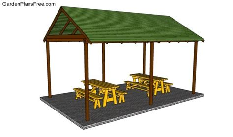 backyard shelter plans picnic shelter plans free garden plans how to build