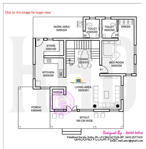 178 Square Yards House Elevation And Plan Kerala Home House Plans For Small Yards