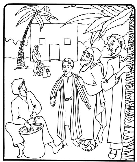 free coloring pages of joseph his coat