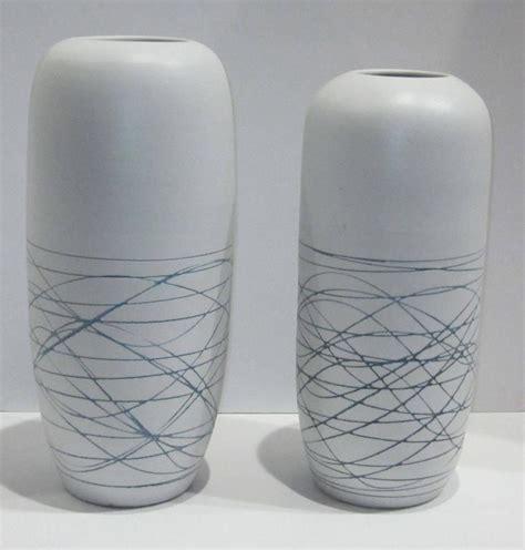 Contemporary White Vase Large White With Blue Lines Porcelain Vase China