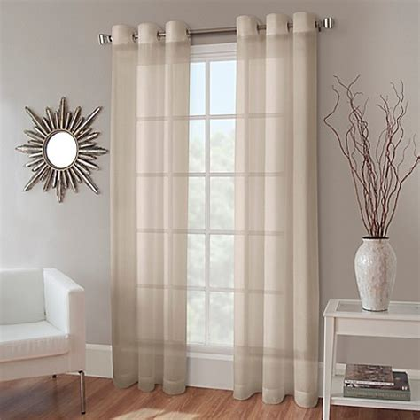 crushed voile sheer curtains buy crushed voile 63 inch grommet top sheer window curtain