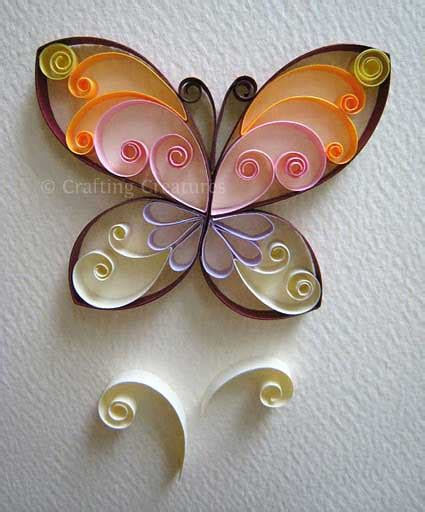 quilling designs butterfly quilling pattern tuturial crafting creatures