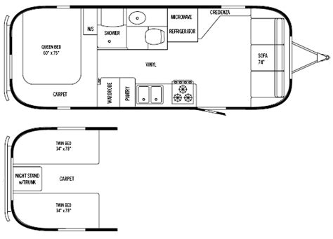 airstream floor plans airstream trailer 6 brilliant airstream floor plans