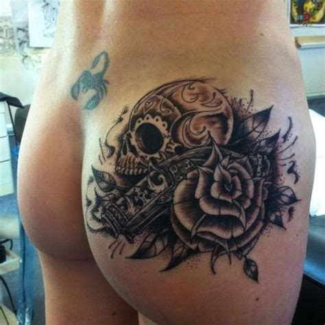 skull and black rose tattoo 40 amazing black and gray ideas