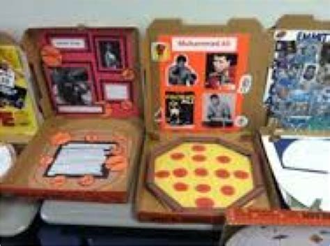 pizza box book report biography project mrs ritter s 3rd grade