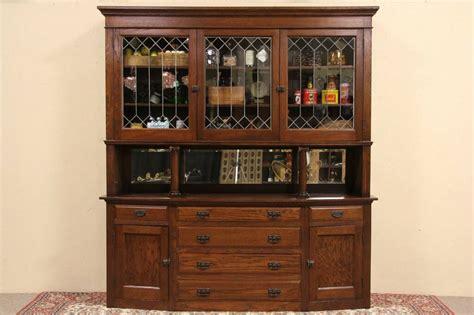 sold arts crafts oak pantry cupboard sideboard
