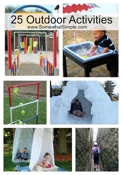 backyard activities for kids the great outdoors 25 outside activities for kids somewhat simple