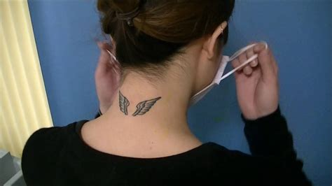 tattoo removal neck youtube うなじタトゥー除去 laser tattoo removal on back of neck youtube