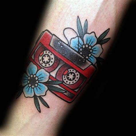 cassette tattoo designs 50 cassette designs for retro ink ideas