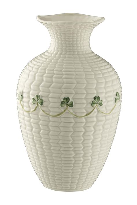 belleek shamrock braid vase