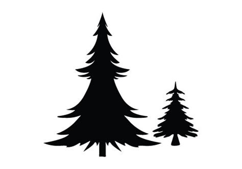 christmas tree vector silhouette find craft ideas