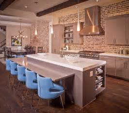 Kitchen Island Wall 50 Trendy And Timeless Kitchens With Beautiful Brick Walls