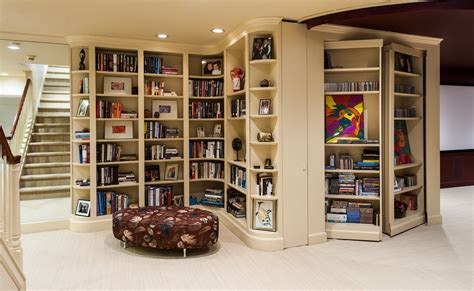 baxton studio lindo bookcase and dual pull out shelving cabinet contemporary hidden bookcase door doherty house hidden