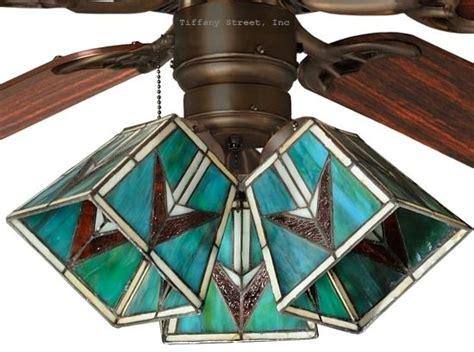 tiffany style ceiling fan light shades southwest tiffany style stained glass ceiling fan shade