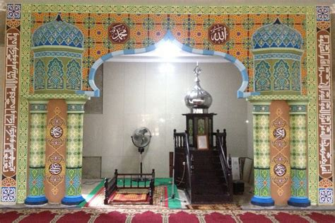 terminal seni kaligrafi kaligrafi  dekorasi masjid