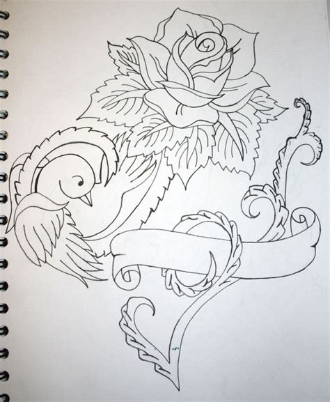 bird and rose tattoo bird and roses design ideas