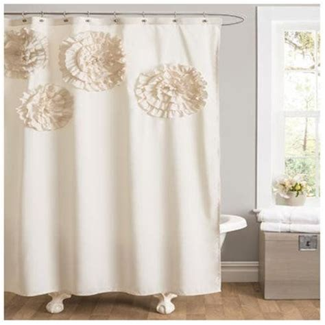 glam shower curtain flower glamour shower curtain ivory shower curtain