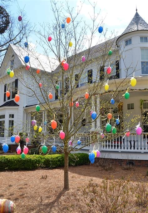 how to make decorations for outside 40 outdoor easter decorations ideas to make