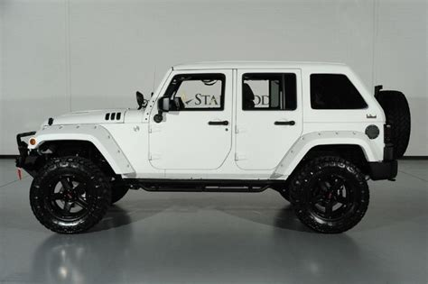 starwood motors jeep white 2015 jeep wrangler unlimited 24s pkg we finance dallas