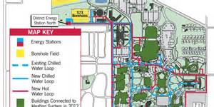 Ball State Map by Ball State University Geothermal Campus Map Cleantechnica
