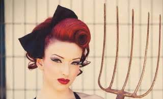 vintage updo pinup swirl tutorial mobile accessible