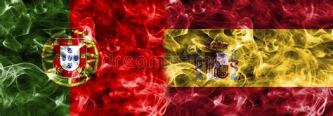 spain vs portugal world cup portugal vs spain smoke flag b football world cup