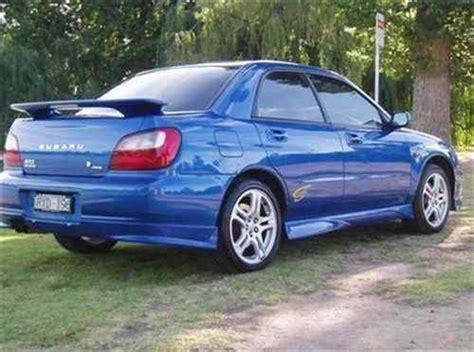 2002 Used Subaru Impreza Wrx Sedan Car Sales Bendigo Vic