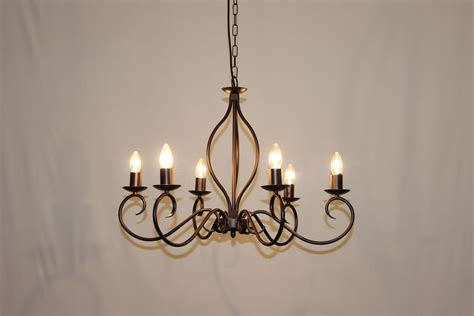 Iron Candle Chandelier The Etton 6 Arm Wrought Iron Candle Chandelier Bespoke
