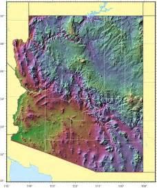 arizona relief map 1 mapsof net