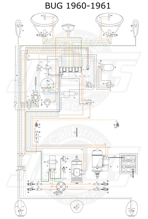 vw tech article 1960 61 wiring diagram