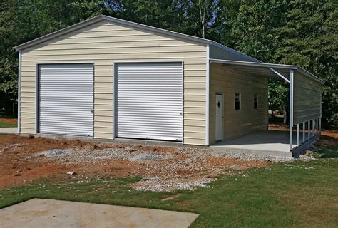 Garage Car Port by Two Car Garage With Carport House Plans