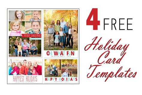 17 Holiday Card Photoshop Templates Free Images Free Photoshop Christmas Card Templates Free Free Card Templates For Photos