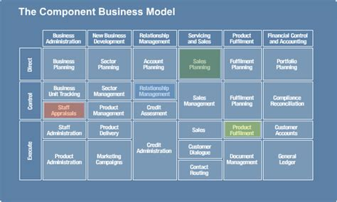 Component Business Model Template On Ibm S Component Business Model Tom Graves Tetradian