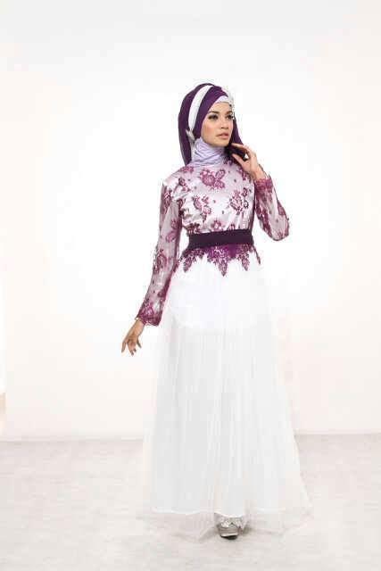 Baju Gamis Mewah kreasi baju gamis pesta modern terbaru 2016