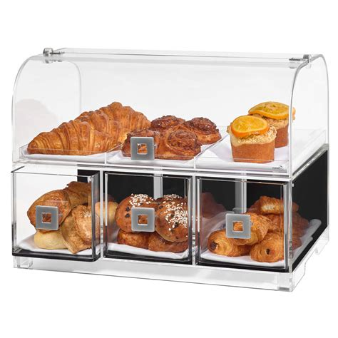 Countertop Bakery by Rosseto Bd128 Countertop Bakery Display W 2 Tiers 19 1 Quot X 12 75 Quot X 15 Quot Clear Acrylic