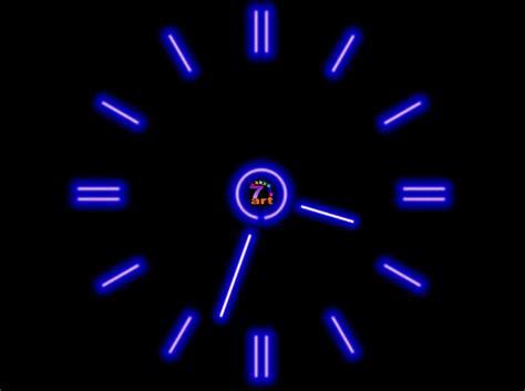 wallpaper clock windows 7 screenshot review downloads of freeware 7art fluorescent
