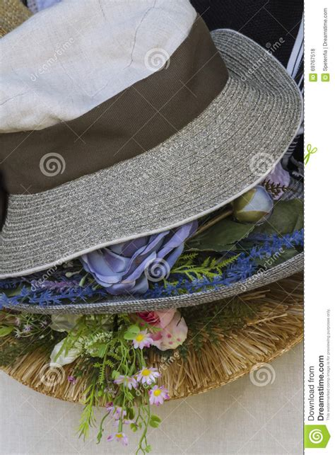 Beautiful Handmade Crafts - handmade hat stock photo image 69767518